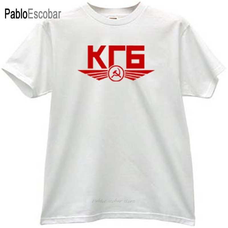 تي شيرت رجالي قطن ماركة صيفية تي شيرت KGB CCCP تي شيرت روسي للشرطة السرية رجل shubuzhi teeshirt