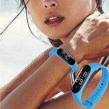Sports Watches for Women Men Kids Fashion Electronic Silicone Bracelets Wrist Watch Child Digital Hours Outdoor Waterproof Cloc(China)