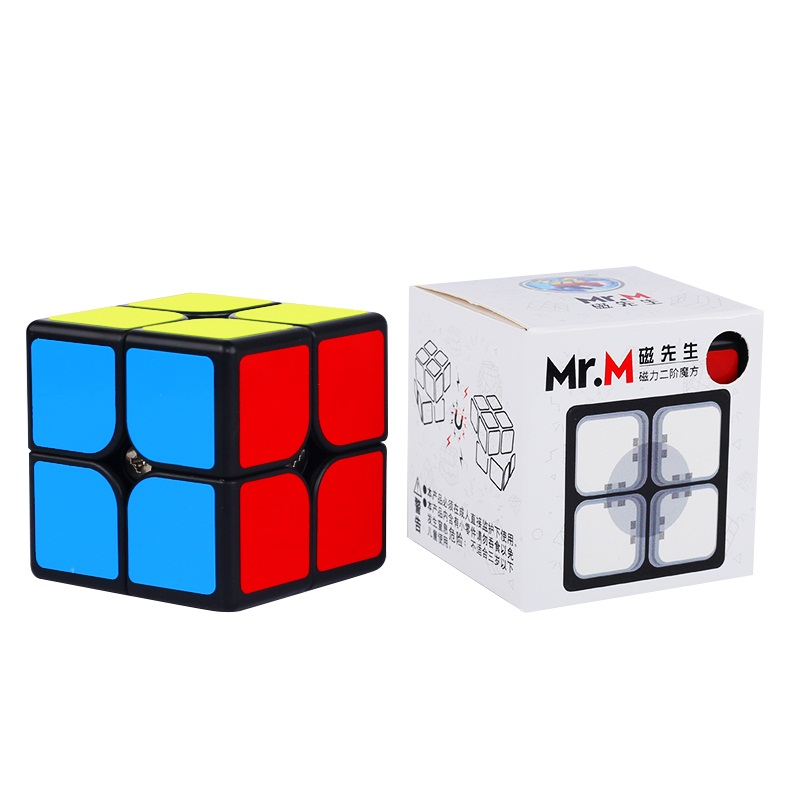 Promo Sengso Mr.M 2x2 Magnetic Magic Cube Black Shengshou 2x2x2 Magnets Speed Cubo Magico Brain Training Toys For Children Kids