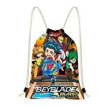 Jackherelook Super Beyblade Anime Printed Drawstring Men Backpack Small Shoulder Bags School Kids Storage Cinch Sack Bolsas