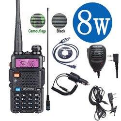 """Baofeng Uv 5R иди и болтай Walkie Talkie """"иди и 10 км Настоящее 8 Вт двусторонней радиосвязи UV-5R портативный Ham Радио UV5R для переносного приемо-передатчик..."""