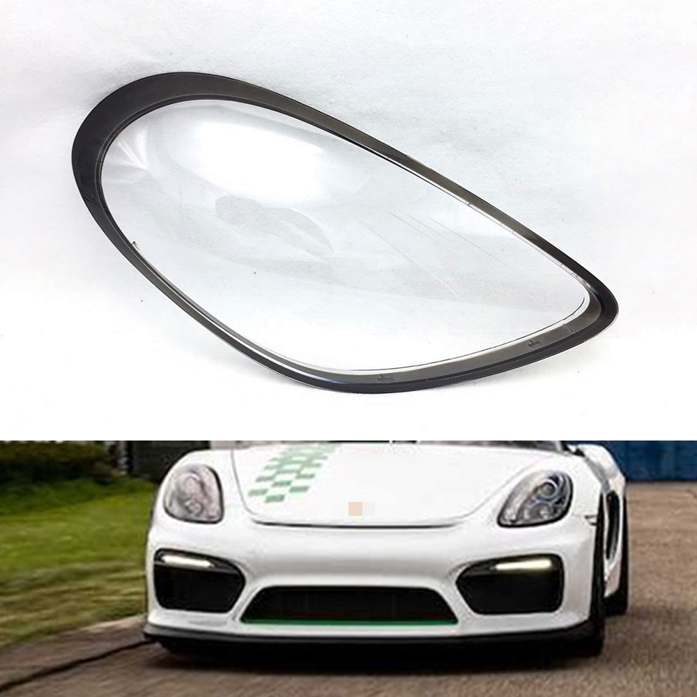 Car Headlight Lens For Porsche Cayman 981 Headlamp Lens Car  Replacement  Auto Shell Cover