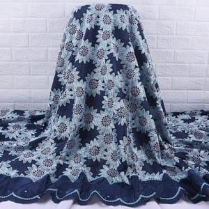 Image 1 - Afrika dantel kumaş 2019 yüksek kalite fransız vual dantel kumaş nakış Floret için nijeryalı kumaş düğün elbisesi parti A1728