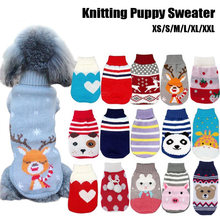 Warm Winter Cartoon Pattern Dog Puppy Winter Sweater Small Dog Cat Knitting Jersey Small Dogs Pet Clothing Coat Pet Clothes(China)