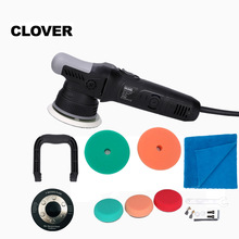 Random-Orbital-Polisher Dual-Action Clover 900w with 3-5-Backing-Plates 8mm High-Speed
