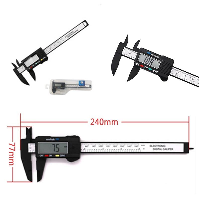 Black /& White Elektronische Digitalanzeige Messschieber 0-150 mm 0-100 mm Kunststoff Messschieber Messwerkzeug Innendurchmesser Au/ßendurchmesser