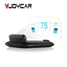 Auto Head up Display Sistema Dual OBD2 + GPS Velocità di 2 in 1 Proiettore HD Del Computer di Bordo HUD specchio Strumento di Diagnostica di Acqua Temp Carburante(China)