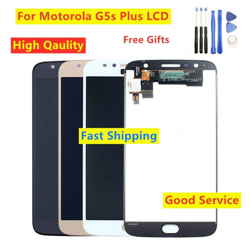 Tested For Moto G5s Plus XT1802 XT1803 XT1804 XT1805 XT1806 LCD Display Touch Screen Digitizer For Motorola Moto G5s Plus LCD
