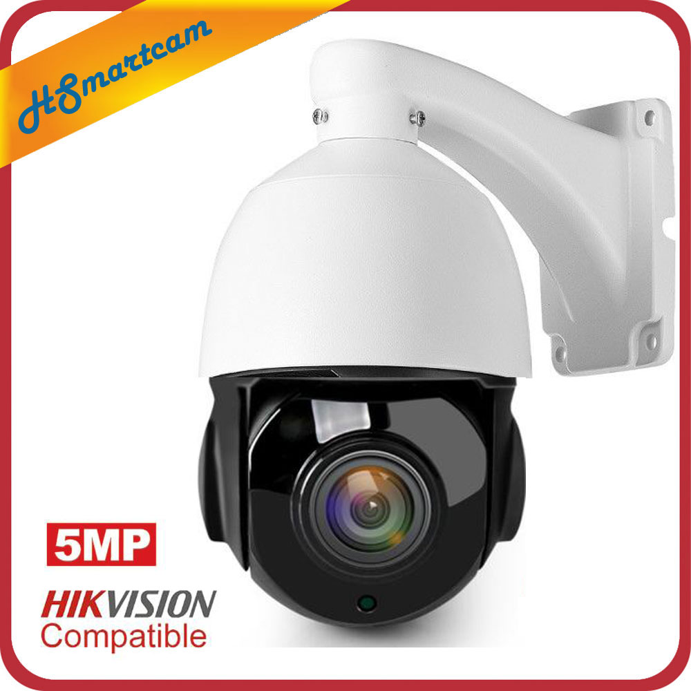 POE PTZ IP Camera 5MP Super HD 2592x1944 Pan/Tilt 30x Zoom Speed Dome Cameras H.264/H265 Compatible With Onvif 48V POE NVR Kits-in Surveillance Cameras from Security & Protection