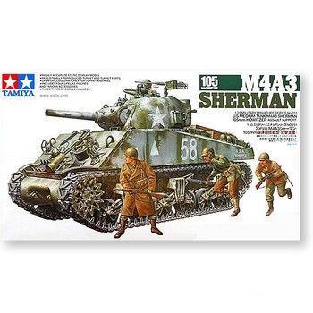 Tamiya 35251 1/35 Military Miniature Series No251 US Army M4A3 Sherman W/105mm howitzer Tank Plastic Assembly Building Model Kit