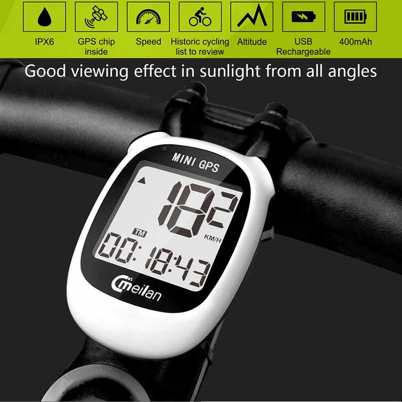 Meilan Navigation Bicycle <font><b>Computer</b></font> M1 M3 <font><b>GPS</b></font> <font><b>Bike</b></font> <font><b>computer</b></font> <font><b>with</b></font> Chest Heart Rate Monitor Speed /Cadence Sensor Cycling Odometer image