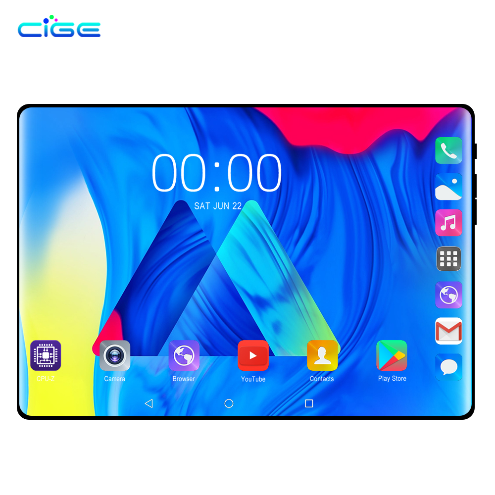 New Design 10.1 Inch Android 8.0 Tablet Pc 6GB  64GB Dual SIM Card 1280*800 HD Large Screen Dual Camera 8 Core Tablets Phone 10