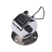 Mini Hand 0-9999 Counter 4 Digit Number Counters Manual Metal Counter Hand Held Decompression Counter