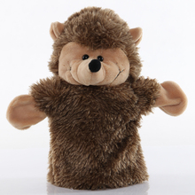 1pcs 25cm Hand Puppet Hedgehog Animal Plush Toys Baby Educational Hand Puppets Story Pretend Playing Dolls for Kids Gifts