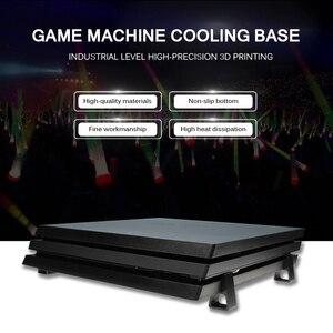 Image 3 - 4 adet oyun ana bilgisayar braketi soğutma yatay versiyon braketi PS4 Slim Pro oyun makinesi taban düz monte braketi aksesuarları