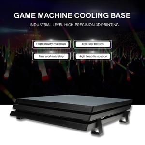 Image 3 - Suporte de versão horizontal de refrigeração do suporte do anfitrião do jogo de 4 pces para ps4 magro pro base de máquina de jogo acessórios de suporte plana montado