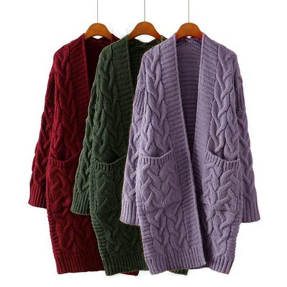 2019 NEW Korean Winter Women's Loose Long Sleeve Knit Sweater Cardigan Coat Thick Winter Women Cardigans Sweater