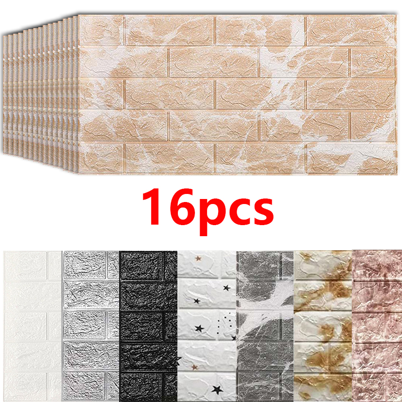 Us 3039 30 Off3d Wall Stickers Imitation Brick Bedroom Decor Waterproof Self Adhesive Wallpaper For Living Room Kitchen Tv Backdrop Decor7038 In