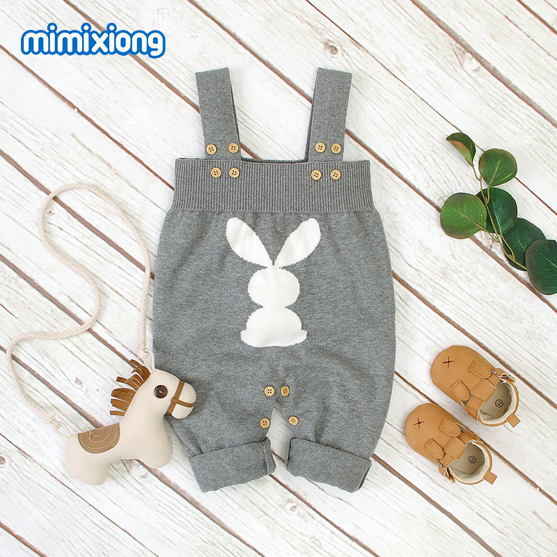 Baby Girl Easter Rompers Bunny Rabbit Knitted Boy Clothes Newborns Infant Bebes Jumpsuits Outfits Sleeveless Children's Overalls