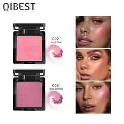 QIBEST Blush maquiagem 8 kolorów twarzy mineralny Pigment Blusher Powder Bronzer kosmetyki profesjonalny kontur cień paleta róży