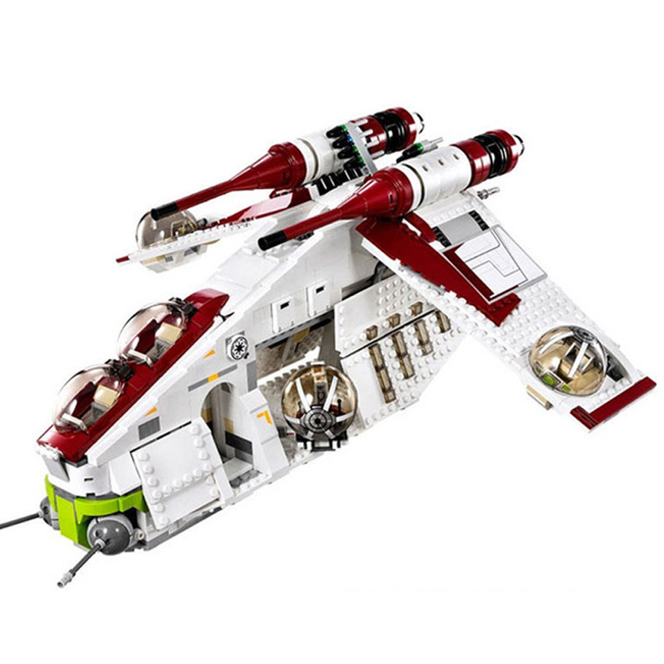 <font><b>05041</b></font> Star Wars on Toy Republic Gunship Set StarWars with Lepining 75021 Ship for children Educational Blocks toys image