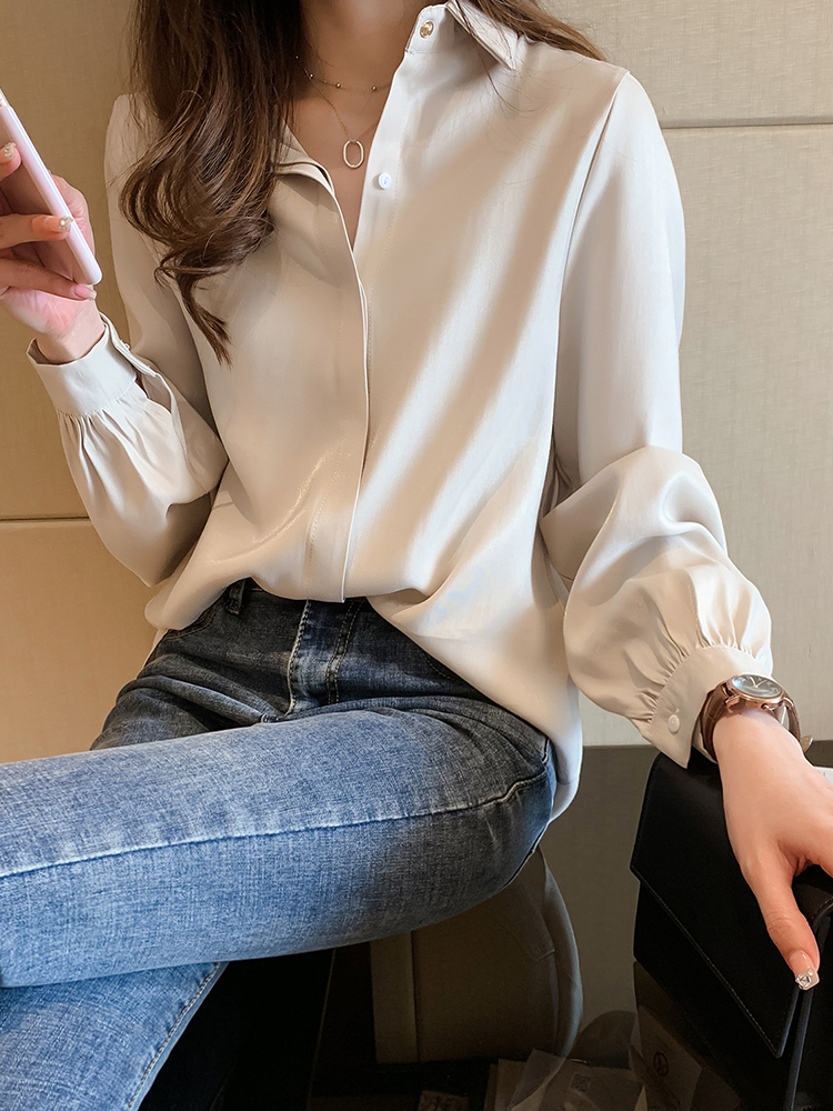 Spring Women Summer  Blouse Long Sleeve Womens Tops And Blouses OL Style Tops