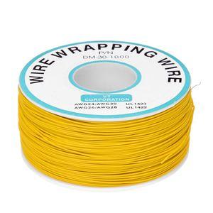 PCB soudure jaune Flexible 0.25mm noyau Dia 30AWG fil emballage enveloppe 820Ft