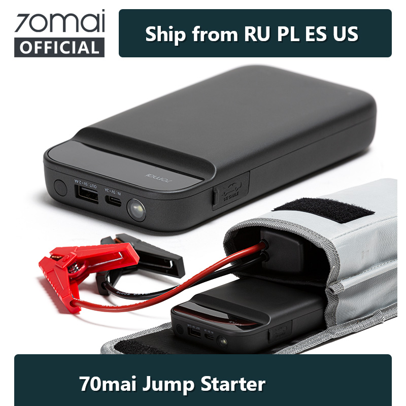 70mai Jump Starter 11000mah 70 Mai car Jump Starter 600A for 3.0L Power Bank Car Jumpstarter Auto Buster Car Emergency Booster