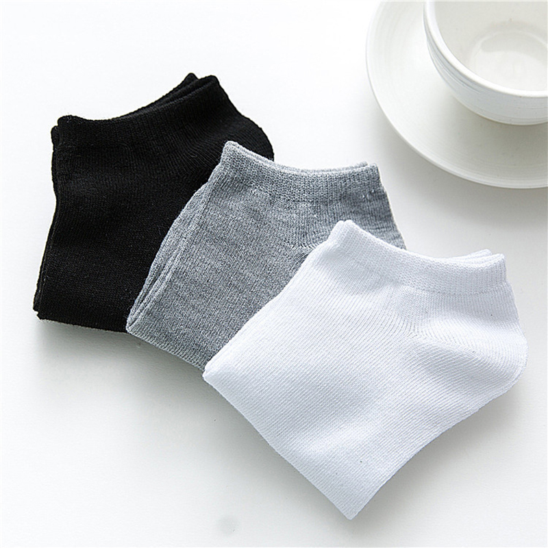 2020 New 10 Pairs Women Socks Breathable Ankle Socks Solid Color Short Socks Comfortable White Black Cotton Low Cut Socks