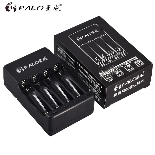 パロ 4 スロット USB スマート充電式バッテリー充電器 1.2V ニッケル水素ニカド Aa AAA 充電式電池