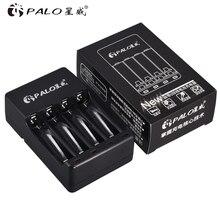Зарядное устройство PALO для аккумуляторных батарей 1,2 В, 4 слота, USB, Ni MH, Ni Cd, AA, AAA