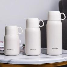 Garrafa térmica portátil copos e canecas 304 garrafa térmica de aço inoxidável lidar com água tampa do copo para meninos e meninas garrafas térmicas para o café