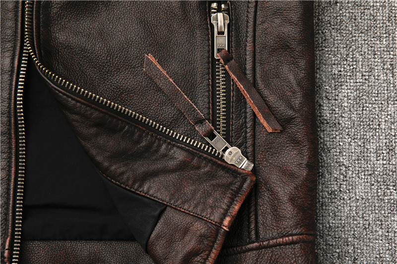 H2f65cbe89865431faa4b2b22f1ec73d3O Classic motor style,vintage genuine leather Jacket,fashion men brown Leather coat,street biker coat,sales