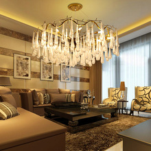 Nordic Postmodern Light Luxury Wall Living Room Hotel Bedroom Crystal Glass Tree-and-Branch Drop Chandelier crystal restaurant chandelier rectangular hong kong style nordic postmodern light luxurious atmosphere bedroom living room lamps