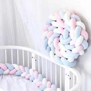 1/3/4 м 3 нити для новорожденных, детский бампер, коса, подушка с узлом, подушка, подушка для младенцев, Bebe, защита для кроватки, детская кроватка...