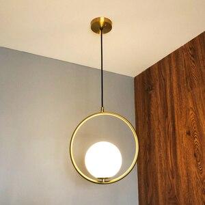 Image 4 - INS ลมบุคลิกภาพจี้ไฟเดี่ยวหัวแหวนสำหรับห้องนอนห้องรับประทานอาหารบาร์ Porch โคมไฟแขวนโคมไฟ
