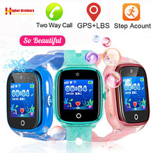 IP67 Wasserdichte Smart GPS WIFI Tracker Locator Kinder Baby SOS Anruf Remote Monitor Kamera Anti-verloren Smartwatch Uhr Armbanduhr(China)
