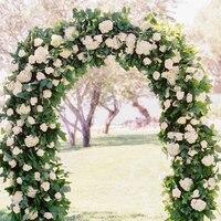 Wisteria Artificial Flower Vine Ivy Leaf Garland Silk Rose Flowers Rattan String Vine Wedding Arch Flower Home Garden Decoration