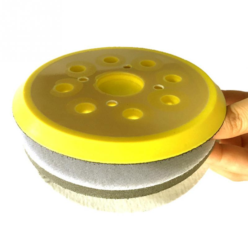 Image 4 - 125mm 8 Hole For Electric Grinder Backing Polishing Self Adhesive Wear Resistance Sanding Disc Accessories Sandpaper Plate Pad-in Abrasive Tools from Tools
