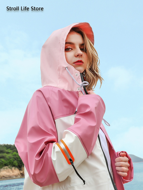 Adult Waterproof Rain Coat Women Men Long Outdoor Jacket Pink Riding Hiking Travel Rain Poncho Capa De Chuva Windbreaker Women