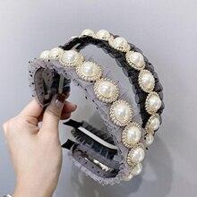 New Luxurious Hairband Women Fashion Pearls Rhinestone Headb