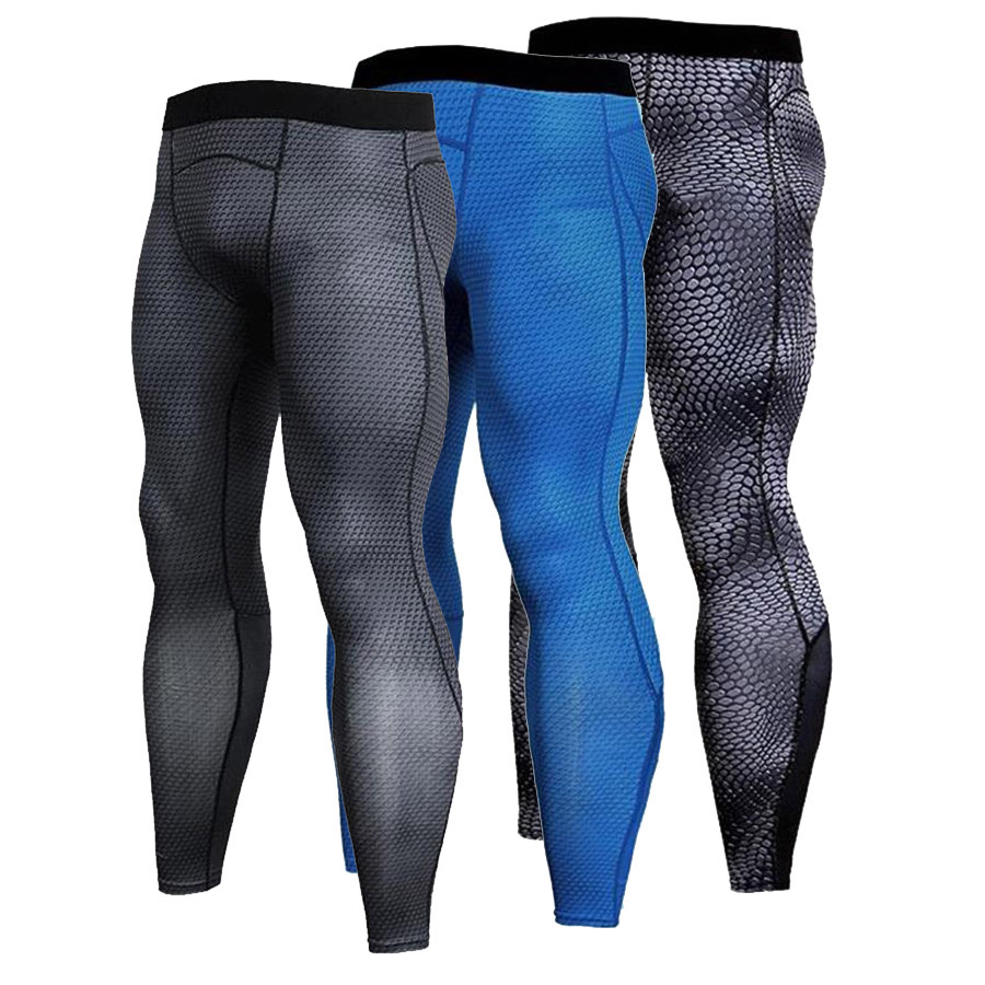 Compression Pants Running Tights Men Sports Leggings Fitness Sportswear Long Trousers Gym Training Pants Skinny Leggins Hombre