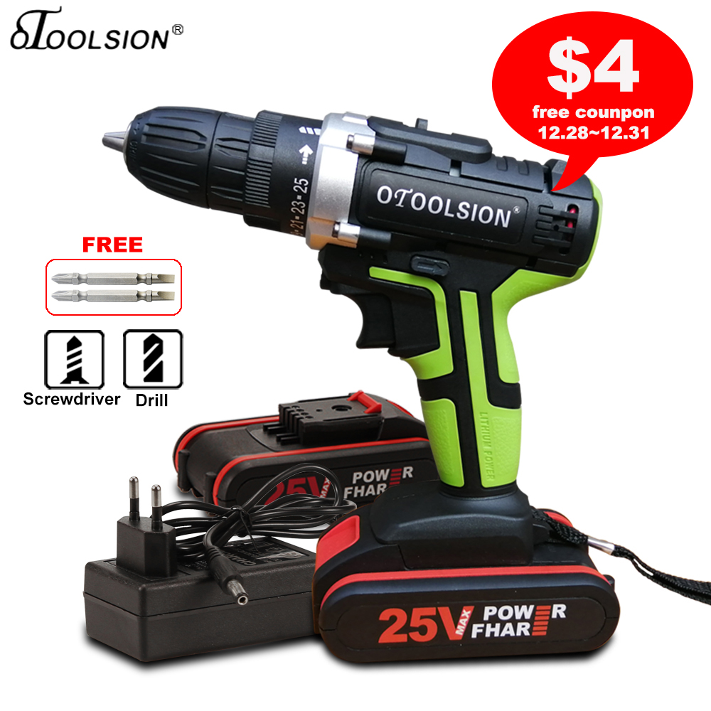 New 25V 1 5Ah 45 N m Electric Drill 25 1 Torque Screwdriver Power Drill Cordless Drill Batteries Tool For Screwdrivers DIY Home