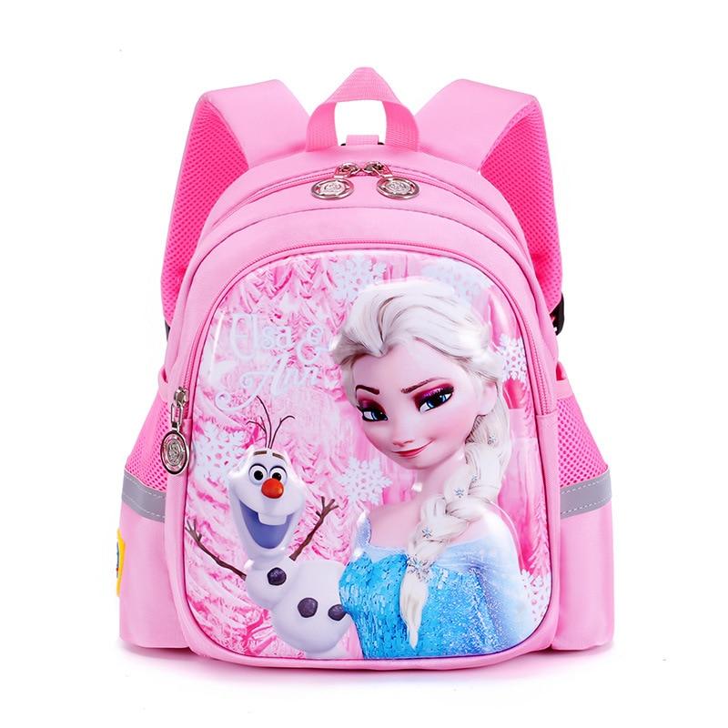 2020 New Children Princess School Bag Girls Elsa Cartoon Kindergarten Schoolbags Kids Orthopedic Backpacks 4-13 Year