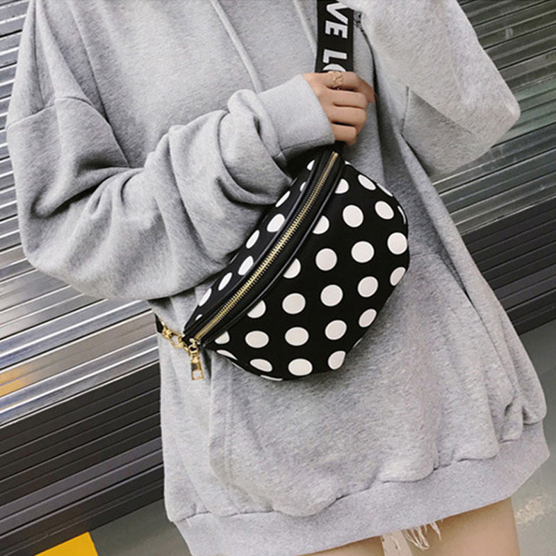 Women's Fanny Pack Round Point Waist Bag High Quality Female Fashion Chest Bags Shoulder Crossbody Banana Belt Bag Hip Purse