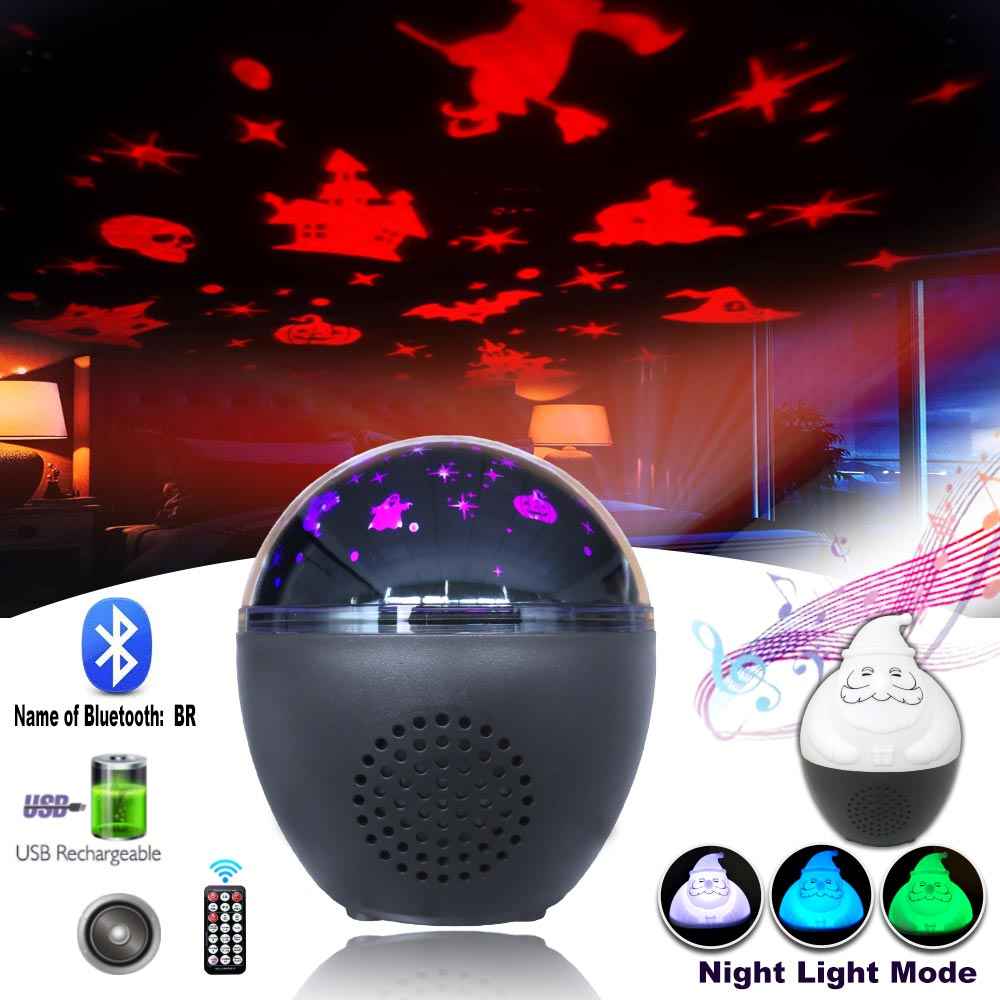 Sound Activated Rotating Disco Ball DJ Party Lights Projector 5W RGB LED Stage Lights For Christmas Wedding Sound Party Lights