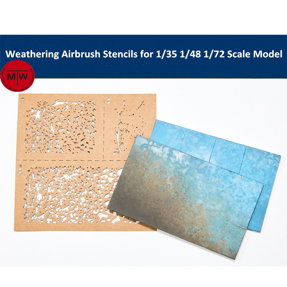 LIANG-0001 Weathering Airbrush Stencils For 1/35 1/48 1/72 Scale Military Tank Model