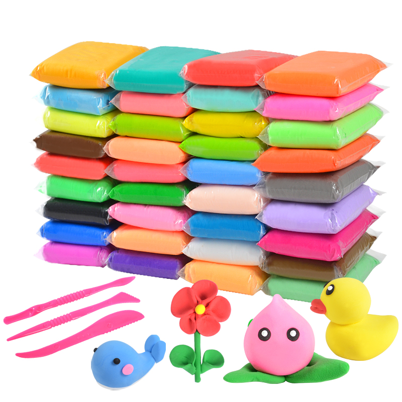 Air-Dry Clay Plasticine Light Modelling Playdough Ultra-Light-Clay Caly-Tools Soft 36-Colors