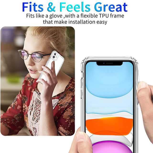 Shockproof Luxury Clear Transparent Silicone Phone Case For iphone 5 5S SE 6 6S 7 8 X XS 11 Pro MAX XR Plus 2020 Protection Case 6