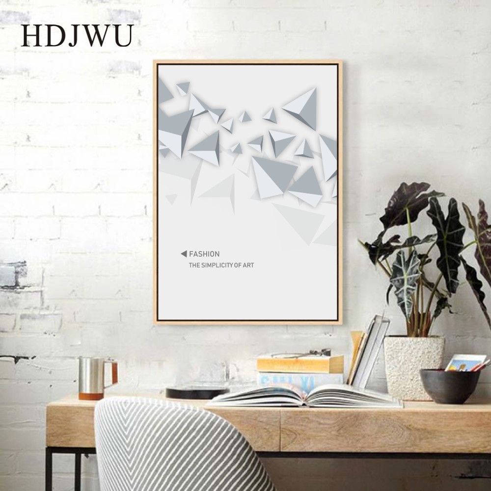 Nordic Art Home Canvas Painting Abstract Irregular Pattern Printing Posters Wall Pictures for Living Room DJ457 in Painting Calligraphy from Home Garden